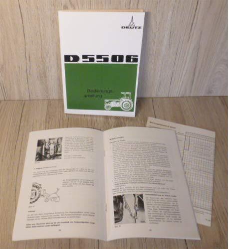 Bedienungsanleitung Deutz Schlepper D5506 D 5506