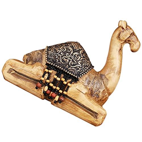 BESPORTBLE Estatuillas de Camel Estatua de Animal Miniatura de Camel Vida Silvestre Camel Camel Modelo de Animal de Mesa de Escritorio Estatuilla de Animal Estatua Decoración del Hogar