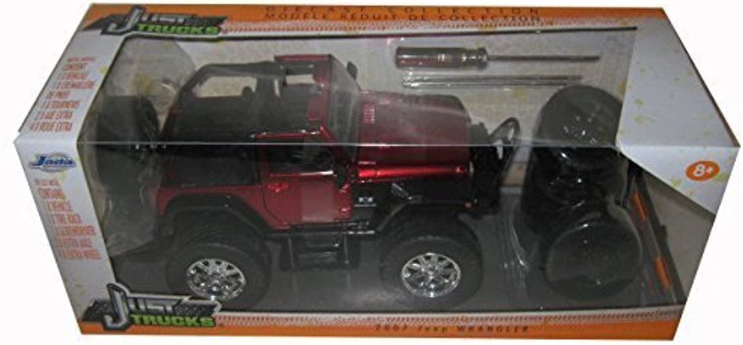 ventas de salida 2007 Jeep Wrangler rojo    Just Trucks  with Extra Wheels 1 24 by Jada 97222 by Jada  Esperando por ti