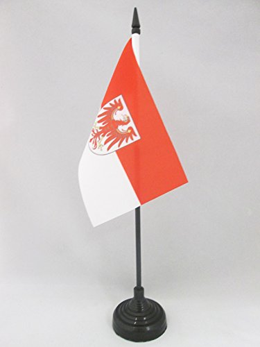 AZ FLAG TISCHFLAGGE Brandenburg 15x10cm - Brandenburg TISCHFAHNE 10 x 15 cm - flaggen