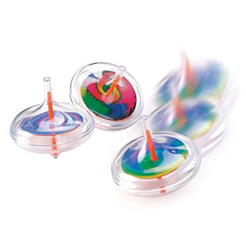 Cheap Fun Express - Plastic Swirl Spin Top - Toys - Value Toys - Tops - 12 Pieces