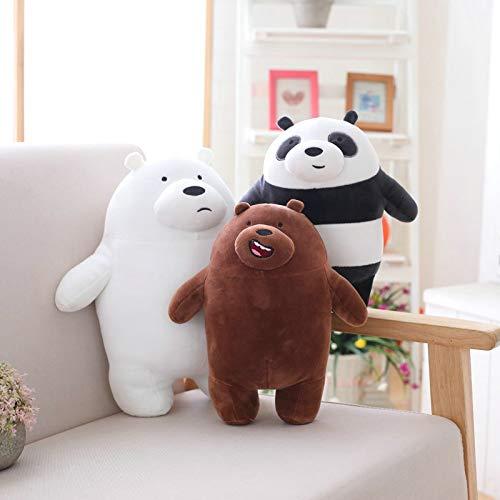 Peluche Kawaii We Bare Bears Peluche Cartoon Orso Farcito Grizzle Grigio Bianco Orso Panda Doll Bambini Amore Regalo di Compleanno 27cm 27cm Bianco