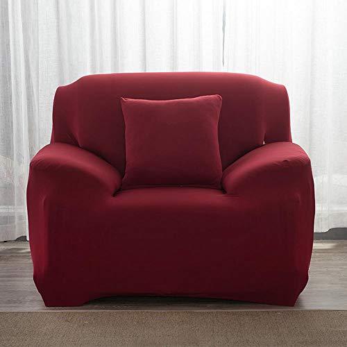 Fundas de Sofás Elástica Universal Se Adapta a Toda la Tela Cubierta Cubierta de Muebles Elegante y Duradera para Asientos de 1/2/3 Sillón LoveSeat (1 Plaza, Rojo)