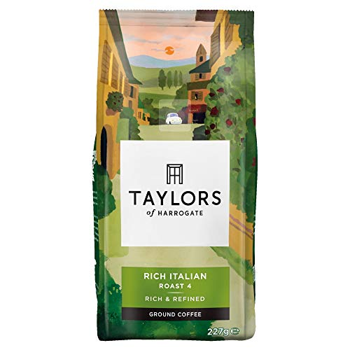 Taylors Of Harrogate Rich Italian Ground Coffee, 227 g (Pack of 6)