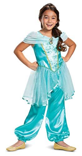 Disguise Disney Princess Jasmine Classic Girls' Costume, Teal, Small...