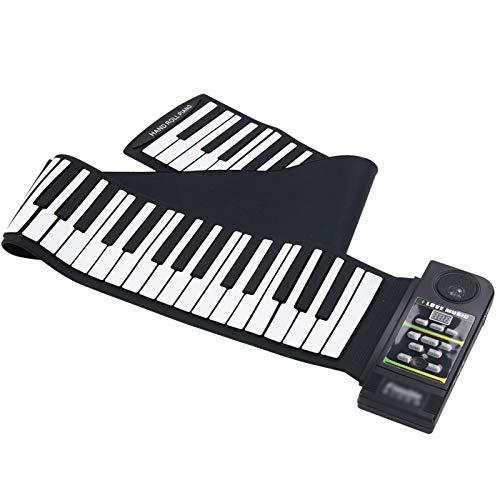 LIERSI Roll Up Piano Tastatur, 88 Keys Electric Piano Tastatur Handrolle Klaviermusikinstrument 128 Töne Und 23 Demonstrationslieder, Für Anfänger Oder Fingerkraftpraxis