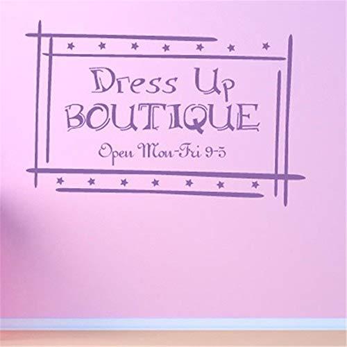 Citas de la pared de la etiqueta engomadas de la pared de la decoración del arte de vestir Boutique abierto mon-fri 9-5 para la tienda