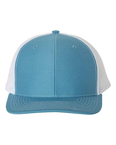 RICHARDSON Cap Adult Unisex 112 Mesh Back Adjustable Caps Columbia Blue/White