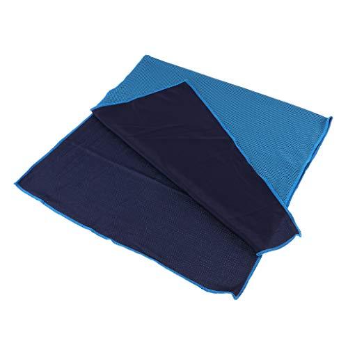 IPOTCH Kühlende Handtücher Mikrofaser Reisehandtuch Sporthandtuch schnelltrocknend Handtuch Strandtuch Badetuch für Fitness Sauna Schwimmen - Hellblau