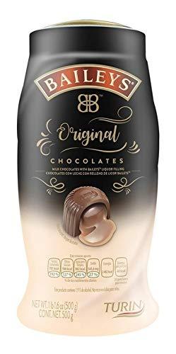 Baileys. Chocolates con leche rellenos de licor Baileys. 500 gramos (El emapque puede variar)
