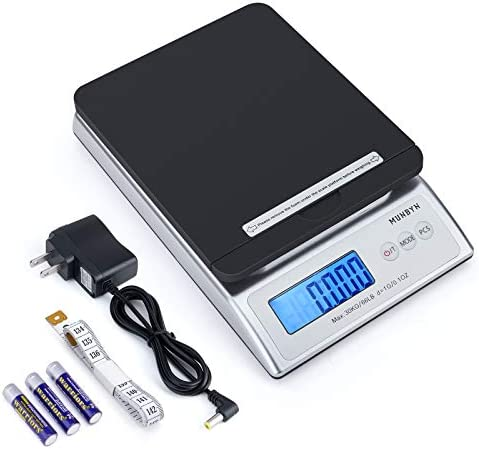 MUNBYN Digital Shipping Scale 66lb Postal Scale with Hold and Tear Function Gram Ounce Pound product image