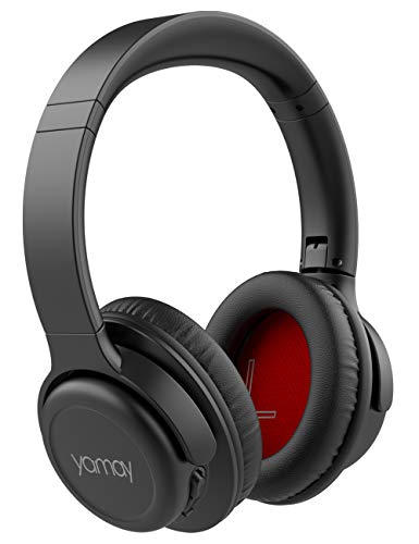 YAMAY H7 Bluetooth Kopfhörer Over Ear,Kopfhörer Kabellos Bluetooth Headset HiFi Stereo Wireless Kopfhörer mit Mikrofon Freisprechen 20 Stunden Spielzeit Tiefer Bass,Mikrofon Freisprechen für Handy PC