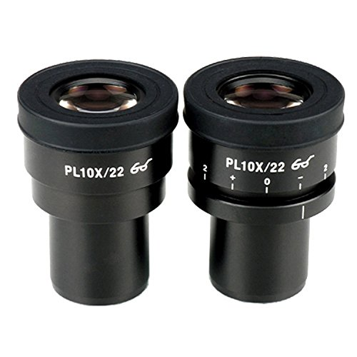 AmScope EP10X30PL 10X Focus Verstelbare Plan Oogjes voor Zeiss, Leica en Nikon (30mm)