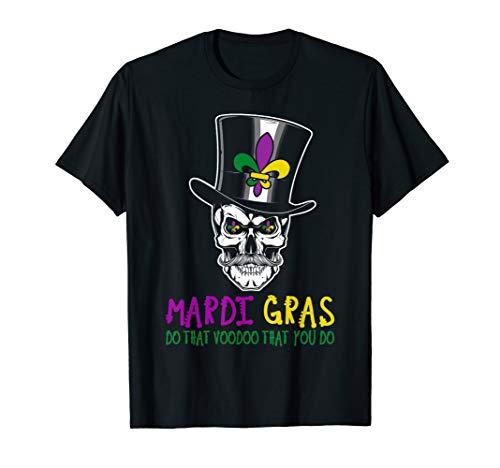 Voodoo Skull Mardi Gras T-Shirt