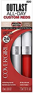CoverGirl Outlast All-Day Custom Red Lip Color, 820 You're On Fire! (Pack of 2)