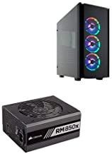 CORSAIR Obsidian Series 500D RGB SE Mid Tower Case, Premium Tempered Glass and Aluminum, LL120 Fans and Commander PRO Included and Corsair RMx Series RM850x 80 PLUS Gold Fully Modular ATX Power Supply