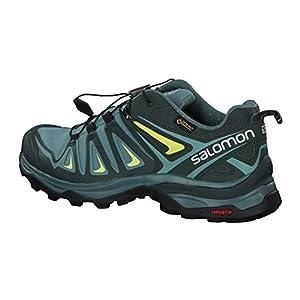 Salomon Women's X Ultra 3 GTX Hiking Shoes, ARTIC/Darkest Spruce/Sunny Lime, 8.5