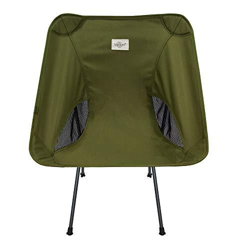 Viaggio+ アウトドア チェア イス 椅子 折りたたみ 背もたれ 軽量 コンパクト キャンプ グランピング (オリーブ)