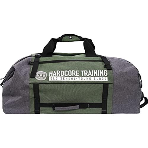 Hardcore Training Gear Bag Sport Backpack Nero Verde Borsa Borsone Sportivo Borsa da Viaggio Boxeo MMA BJJ Zaino (Verde)