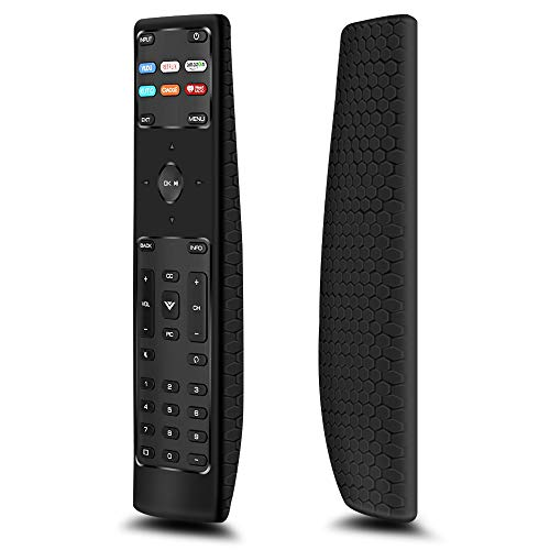Protective Case Covers Compatiable for New XRT136 Remote Control, Remote Holder Skin Sleeve Case for XRT136 Vizio Smart LCD LED TV Remote,Anti-Slip Shockproof Silicone Remote Bumper Back Cover- Black
