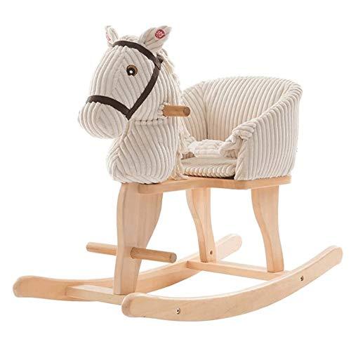 XWX Children's Rocking Horse 2 Mit Kindergeburtstagsgeschenk Rocking Horse Baby Musik Schaukelpferd
