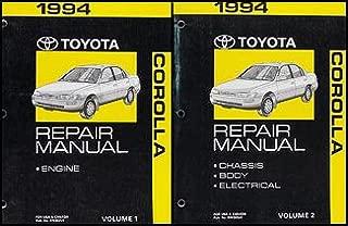 1994 Toyota Corolla Repair Shop Manual Set Original