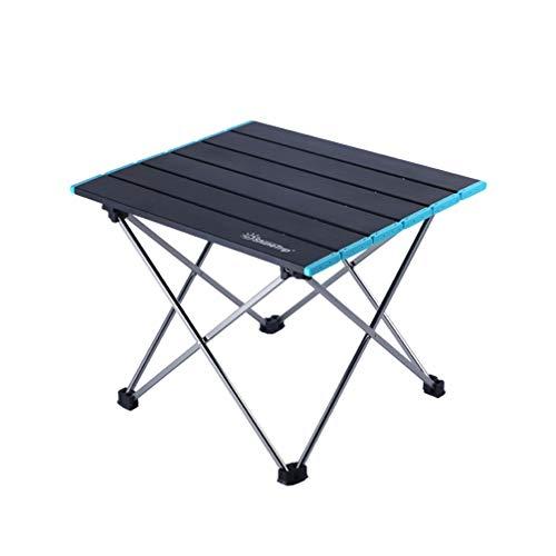 BESPORTBLE Camping Tisch Aluminiumlegierung Klapptisch Präfekt für Picknick im Freien Grill (Schwarz)
