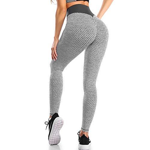 UFLF Leggings Deportivo Mujer Mallas Push Up Pantalones Alta Cintura Leggings para Yoga Fitness Running Ejercicios Pantalones Elástico Transpirable