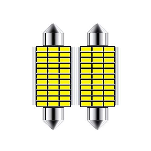 Z&LEI 4 PCS 42Mm LED Festoon Dome Lights 1014 12 SMD C5W / C10W DC 12V Error Lámpara Lámpara para Interior De Coche, Lectura, Luz De Licencia - Blanco,41mm