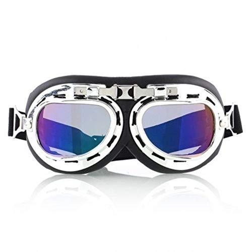 N\A Gafas de deporte al aire libre, estilo aviador, gafas de esquí, snowboard, patinaje, motos de nieve, anti-UV, gafas de sol retro volador piloto Jet casco gafas UV400 (color: colorido)