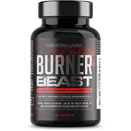 Burner Beast – Hoher Gehalt an Vitamin B6, Biotin, Zink und Chrom – Inklusive einem Extrakt aus grünem Tee und grünem Kaffee – 180 vegetarische Kapseln