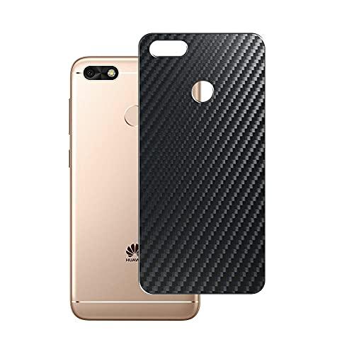 VacFun 2 Piezas Protector de pantalla Posterior, compatible con HUAWEI Enjoy 7 Enjoy7 / Y6 Pro 2017 / P9 Lite mini, Película de Trasera de Fibra de carbono negra Skin Piel