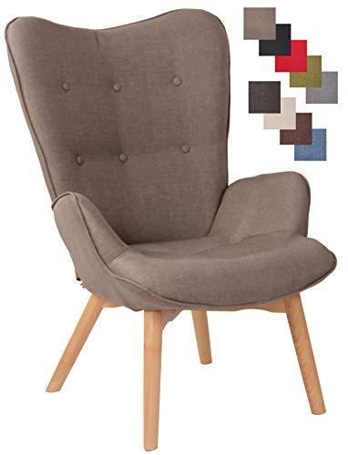 Chaise Lounge Durham en Tissu I Chaise Fauteuil pour Salon Ou Salle A Manger I Piètement en Bois I Design...