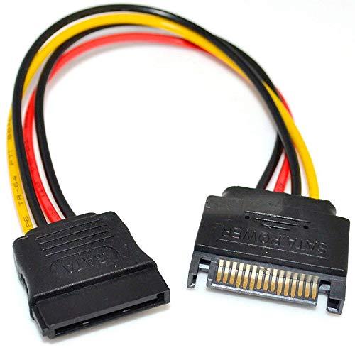 PremiumCord Stromkabel für HDD Serial ATA Verlängerung 16cm