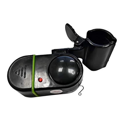 SeniorMar Pôle de canne à pêche de Cloche d'alarme de Poisson de Morsure électronique Avec dispositif d'alarme sonore et lumineux à LED Portable et facilement installé