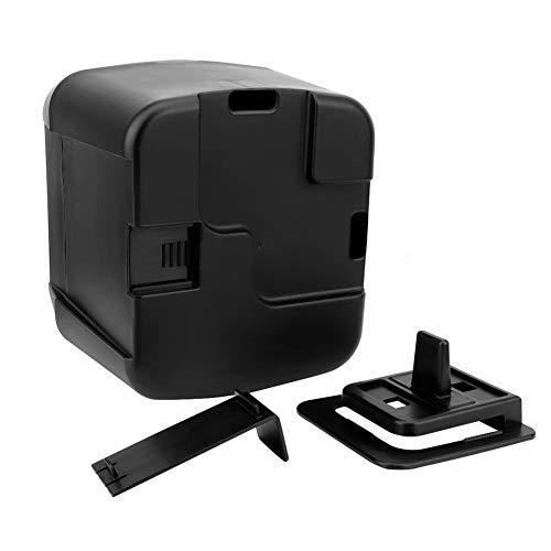 Cubo de basura universal de gran capacidad para coche multifuncional caja de almacenamiento de basura negra con portavasos