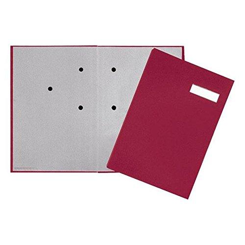 Pagna - Cartellina per firme, 5 pezzi, con copertina in lino, dorso elastico