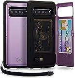 TORU CX PRO Galaxy S10 5G Wallet Case Purple with Hidden Credit...