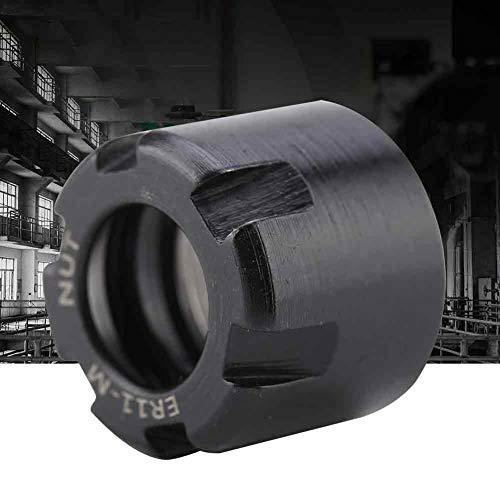 Broca de sujeción, soporte de mandril de tuerca de sujeción de pinza de 1 Uds duradero multiusos para torno de soporte de mandril de mandril de fresado CNC(black, M13*0.75 ER11M)