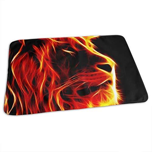Tapis à langer portable bébé couche de change lion pour coussin de voiture 27.5x19.7\