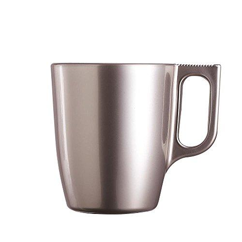 Luminarc - Tazas mug Vidrio Flashy Breakfast 6 piezas Luminarc Plata 6...
