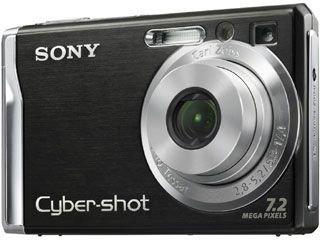 Sony Cyber-shot DSC-W85 Digitalkamera (7,2 Megapixel) schwarz