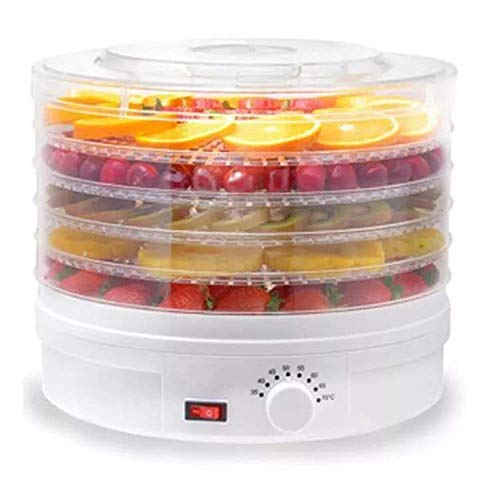Food Dehydrator Dryer, Adjustable Temperature Control 35-70°C, With 5 BPA-Free Tiers Aand Memory Function, Perfect For Meat, Fruit, Vegetable, Herb