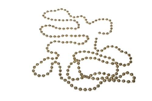 Decoratieve parelslinger - boomversiering - kerstversiering - bruiloft - parels - slinger - tafelversiering - adventskrans - kerstbestek - tafeldecoratie - goud - 8 mm x 2 m - 1 VE = 3 x 2 m - A100