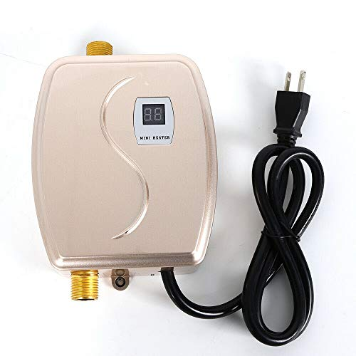 Instant Electric Tankless Hot Water Heater 110V 3800W Mini Shower Kitchen Bath for Home Kitchen Use
