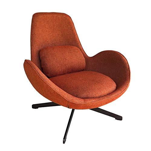 MATHI DESIGN Space - Fauteuil Contemporain en Tissu Orange