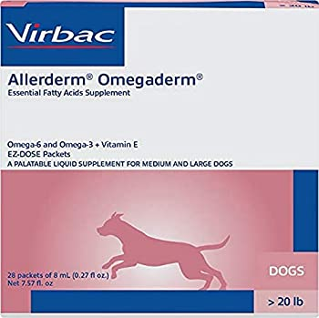 Virbac Allerderm Omegaderm EZ-Dose Packets for Medium & Large Dogs 28 Count