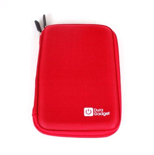 """DURAGADGET Housse étui résistant en EVA Rigide Rouge + Gants capacitifs conducteurs Taille S (Petit) pour Nouvelle Tablette Kindle Fire 7"""" d'Amazon –"""