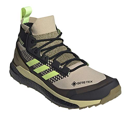 adidas Men's Terrex Free Hiker GTX Hiking Shoe, Savanna/Hi-Res Yellow/Core Black - 11