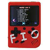 Come-buy Mini Retro Handheld FC Games Consoles ,Built-in 400 Classic Game, Portable Gameboy 3 Inch LCD Screen 1000mAh Rechargeable Battery TV Output (FIO-Red)